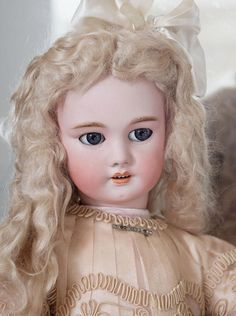 """27"""" (68 cm) Very Pretty Antique French Bisque Bebe DEP doll, Jumeau / from respectfulbear on Ruby Lane"""