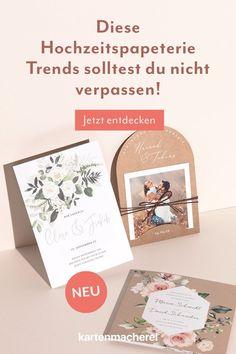 Diese Hochzeitspapeterie Trends solltest du nicht verpassen. Card Wedding, Celebration, Creative, Gifts