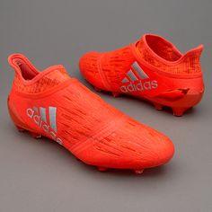 adidas X 16+ Purechaos FG/AG - Solar Red/Silver Metallic/Hi-Res Red