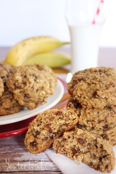 Banana Oatmeal Breakfast Cookies on MyRecipeMagic.com