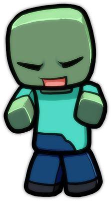 Minecraft Cartoon Zombie