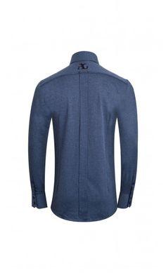 Blue Cotton Capri Shirt