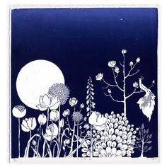 Chitra Merchant - Song, Limited Edition Silkscreen Print, 19x19cm