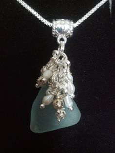 So Soft Aqua Sea Glass and Pearls by SeaMaidensMuse on Etsy, $30.00