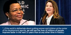 How to make the SDGs Work: Prioritize women and families, say Melinda Gates & Graça Machel: http://ow.ly/KPBpW