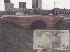 """""""'The European Bank didn't want to use real bridges so I thought it would be funny to claim the bridges and make them real,' Stam told Dezeen. […] The bridges are exact copies of those shown on the banknotes, down to the shape, crop and colour."""""""