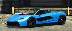 Blue Progen T20 GTA 5 Front Quarter View
