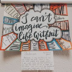 Have students provide answers to that question at the beginning of the year. Thought: 1 class poster or students create individual posters to display Middle School Ela, Middle School Classroom, Beginning Of The School Year, First Day Of School, Art School, Ela Classroom, Classroom Ideas, Middle School Crafts, Future Classroom