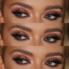 Bronzed smokey eyes and a fluffy brow👏🏼❤️👌 Makeup on the beautiful . - Bronzed smokey eyes and a fluffy brow👏🏼❤️👌 Makeup on the beautiful celine robertson * - Bronze Smokey Eye, Bronze Eye Makeup, Bronze Eyeshadow, Smokey Eyes, Dramatic Eye Makeup, Formal Makeup, Easy Smokey Eye, Brown Smokey Eye Makeup, Mac Makeup Looks
