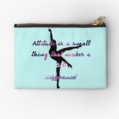 Dance Quotes, Makeup Bags, Different, Zipper Pouch, Attitude, Chiffon Tops, Zip Around Wallet, Finding Yourself, Coin Purse