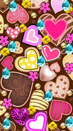 Cute hearts Wallpaper