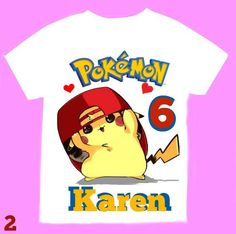 Pokemon Girl T-shirt Personalized 12Months,18 Months,2T,3T,4T,5T,6T, Youth S- Youth -M.Personalization is included at no additional cost. by FantasyKidsDesigns on Etsy https://www.etsy.com/listing/453852516/pokemon-girl-t-shirt-personalized