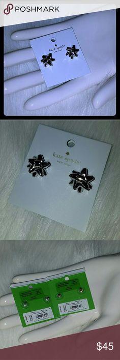 Kate spade bourgeois bow earrings New.. silver Kate spade Jewelry Earrings