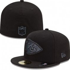 Kansas City Chiefs New Era NFL Black On Black Fitted 59Fifty Hat (Black) Cleveland Browns Hat, Chicago Bears Gear, New England Patriots Apparel, Kansas City Chiefs Apparel, Green Bay Packers Merchandise, Green Bay Packers Jerseys, 59fifty Hats, Chiefs Football, San Diego Chargers