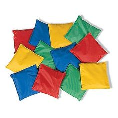 "Educational Products - Dozen 5"" Assorted Nylon Reinforced Bean Bags [Toy] - 1 DOZEN, 5"" bean bags."