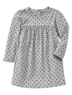 Knit dot dress   Gap