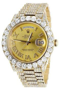 Rolex Day-Date II President 228238 Yellow Gold Ct Diamond Watch - Sale! Shop at Stylizio for womens and mens designer handbags luxury sunglasses watches jewelry purses wallets clothes underwear more! Stylish Watches, Luxury Watches For Men, Cool Watches, Rolex Watches, Wrist Watches, Rolex Datejust, Swiss Army Watches, Rolex Day Date, Expensive Watches
