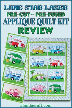 This is our review of the 'Campers' applique kit from Lone Star Laser. Love having the applique pieces pre-cut and pre-fused. Di had fun putting this sewing project together and embellishing it with bling to make it pop. Diy And Crafts Sewing, Easy Sewing Projects, Sewing Projects For Beginners, Craft Tutorials, Sewing Tutorials, Diy Crafts, Hand Applique, Applique Patterns, Applique Quilts