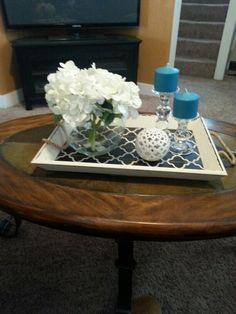 New arrangement on coffee table