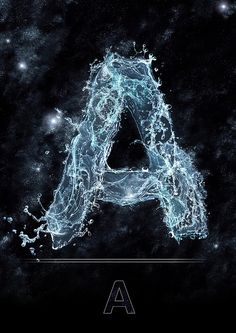 Water letterforms -> TYP:H²O // Essence on the Behance Network S Letter Images, Alphabet Images, Letter Art, Alphabet Wallpaper, Name Wallpaper, Galaxy Wallpaper, Graffiti Lettering Fonts, Alphabet Letters Design, Typography Served