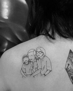 Grandma Tattoos, Brother Tattoos, Tattoo Hermanas, Body Art Tattoos, Small Tattoos, Wreath Tattoo, Piercings, Tattoo Addiction, Line Art Design