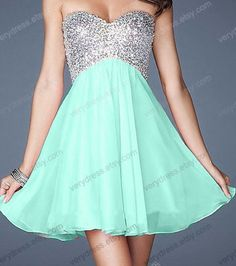 Light blue sparkle strapless dress - Wanelo
