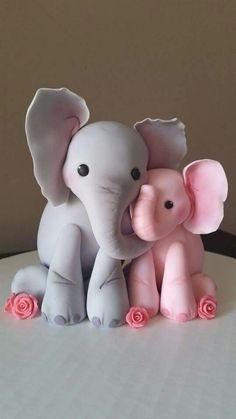 Elephant cake topper Adorable❤️