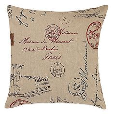 The French Postale Square Throw Pillow will transport you to Paris with a vintage post card design from the City of Lights. This super-chic pillow is soft and luxurious and is the perfect way to add a sophisticated touch to your favorite seating.