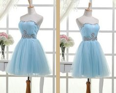 wangfei Solo Dresses Light Sky Blue Homecoming Dress,Short Prom Dresses,Homecoming Gowns,Fitted Party Dress,Silver Beading Prom Dresses,Sparkly Cocktail Dress