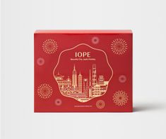 Holiday Package by Design Momentum Flower Packaging, Cosmetic Packaging, Box Packaging, Envelope Design, Red Envelope, Hongkong, Red Packet, Cosmetic Design, Line Illustration