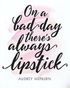 you can never go wrong with a red lip on a rainy day!  #lipstick #qotd #audreyhepburn
