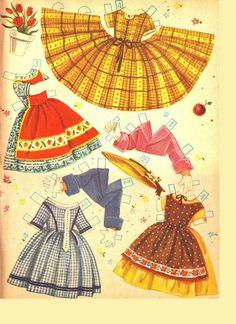 Umbrella Girls w/ 4 Stand-Up Dolls, 1956, Merrill #2562 (3 of 12) | Kathleen Taylor's Dakota Dreams