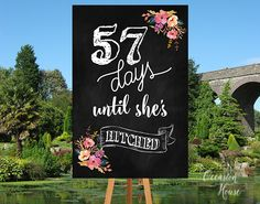Bridal Shower Welcome Sign, Bridal shower sign, Countdown wedding sign, days  till she's hitched sign, Printable, BSWS030 by OccasionHouse on Etsy