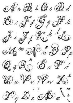 Clear Stamp alfabet schrift