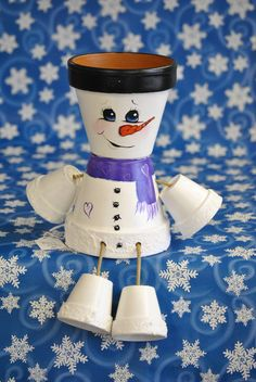 Check out this item in my Etsy shop https://www.etsy.com/listing/210562757/snowman-pot-people
