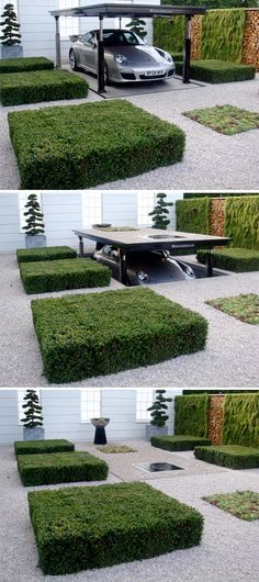 Underground Car Garage by Cardok. I would feel like a fancy rich spy or something every time I put away my car...:)