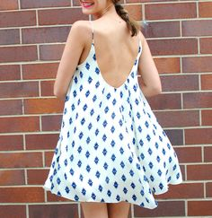 This is the ZARA Trapeze dress that Mark's 4th girlfriend wears when he meets her at the hotel pool in the Bahamas… it's from ZARA's summer 2013 collection and unfortunately sold out… found via See Jane / @Anna Jane Wisniewski