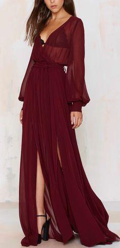 Burgundy gown