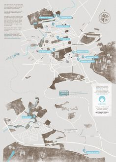 A WALKING TOUR OF EDINBURGH  Design and illustration of a map of Edinburgh following the life of Robert Louis Stevenson.