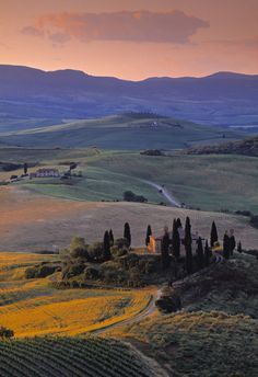 Carreteras del Val dOrcia, Toscana (Italia)