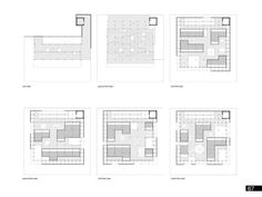Floor plans of the Micro Urban project.