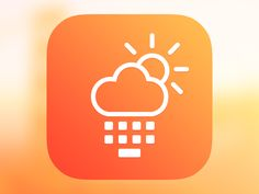 Here's an icon variation for the weather app. You can check current weather in the app or using keyboard in any app. I don't know is it a good or bad idea but I tried to combine the weather and key...