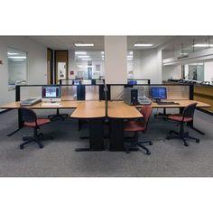 KI Furniture WorkZone Side Mount Worksurface Peninsula Writing Desk Frame Style: With beam, Edge Style: 74P edge, Paint Color: Kensington Maple