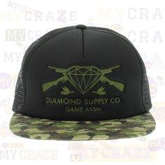 Diamond Supply Co Game Assn Guns Camo Mesh Snapback Adjustable Cap – MyCraze  #diamondsupplyco #baseballcap #streetwear
