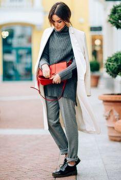свитер крупной вязки фото, базовый гардероб на осень, уличный стиль осень…