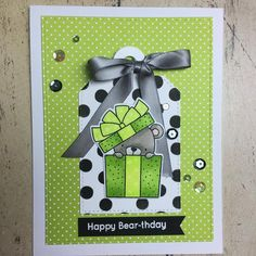 Still working with my #mftstamps Beary Special Birthday set! Stocking up on birthday cards to sell.