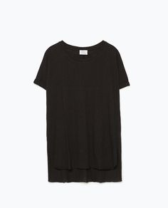 ZARA - WOMAN - BASIC T-SHIRT Back To Work, Zara Women, V Neck, T Shirt, Clothes, Tops, Woman, Image, Fashion