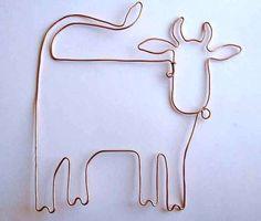 проволочный каркас коровы из бисера своими руками в подарок