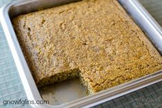 Grain-Free Almond Bread | Nutty and moist, this almond bread is both delicious and filling. I serve it like cornbread on the side of a meal. Before coming up with this recipe, I tried a recipe I found on the internet. That bread was so dry we all got hiccups! Then I noticed the recipe called for no fat whatsoever. Well, that would explain it. ;) So I played around with the ratios of ingredients and of course I added fat -- and here is the final recipe. | GNOWFGLINS.com
