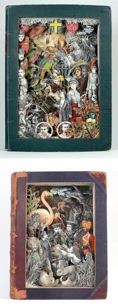 Sculptural book collages by Alexander Korzer-Robinson